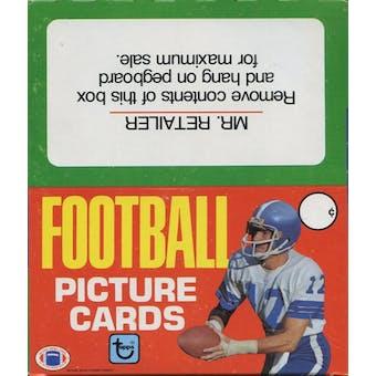 1981 Topps Football Rack Box