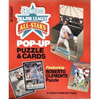 1987 Donruss All-Star Pop-up Baseball Wax Box