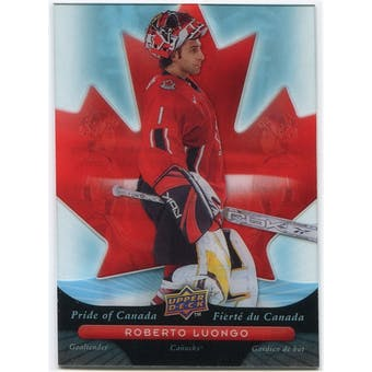 2009/10 McDonald's Upper Deck Pride of Canada #PC14 Roberto Luongo