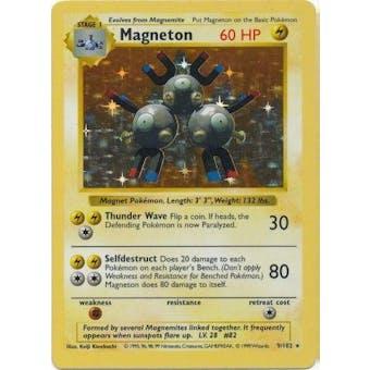 Pokemon Base Set 1 Single Magneton 9/102 - Shadowless - SLIGHT PLAY (SP)