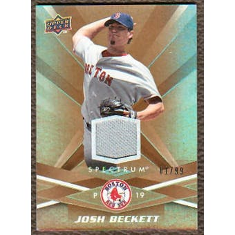 2009 Upper Deck Spectrum Gold Jersey #11 Josh Beckett /99