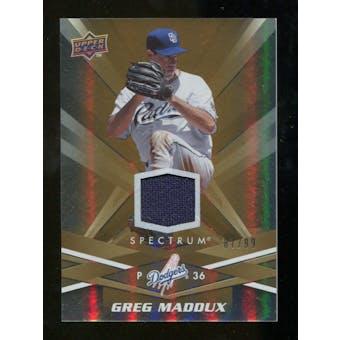 2009 Upper Deck Spectrum Gold Jersey #79 Greg Maddux /99