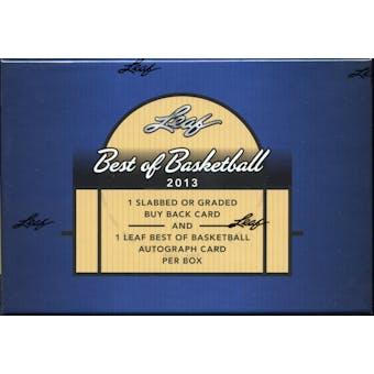 2012/13 Leaf Best Of Basketball Hobby Box