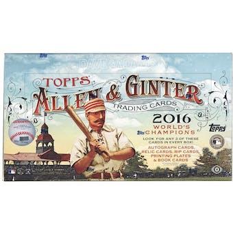 2016 Topps Allen & Ginter Baseball Hobby Box