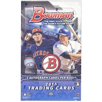 2016 Bowman Baseball Jumbo Box