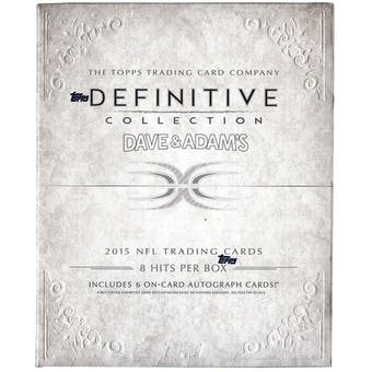 2015 Topps Definitive Collection Football Hobby Box