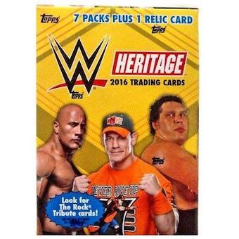 2016 Topps Heritage Wrestling 7-Pack Blaster Box