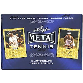 2016 Leaf Metal Tennis Hobby Box
