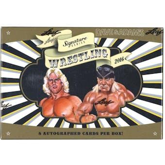 2016 Leaf Signature Series Wrestling Hobby Box