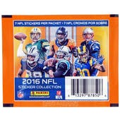 2016 Panini NFL Football Sticker Pack