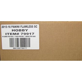 2016 Panini Flawless Soccer Hobby 2-Box Case