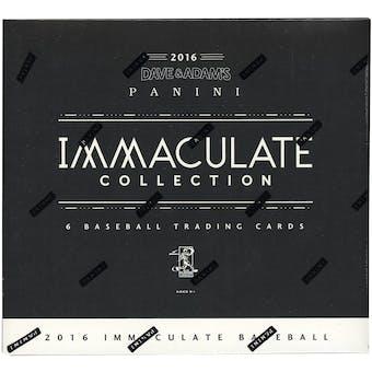 2016 Panini Immaculate Collection Baseball Hobby Box