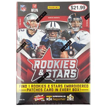 2015 Panini Rookies & Stars Football 7-Pack Box