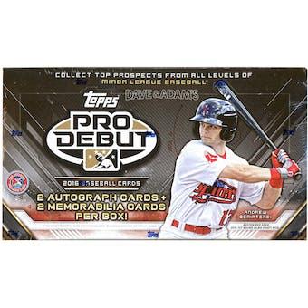 2016 Topps Pro Debut Baseball Hobby Box