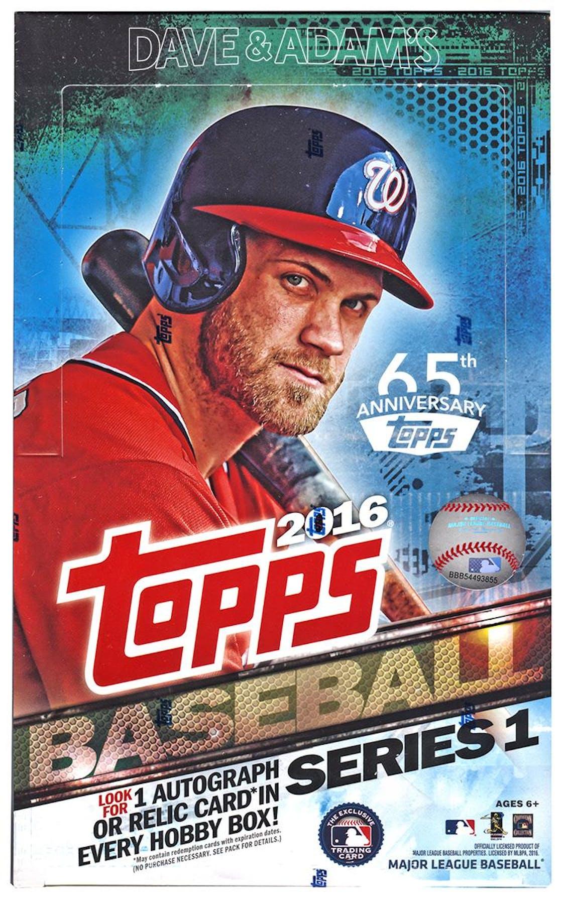 f2872ab7870 2016 Topps Series 1 Baseball Hobby Box