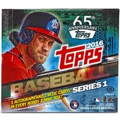2016 Topps Series 1 Baseball Hobby Jumbo Box