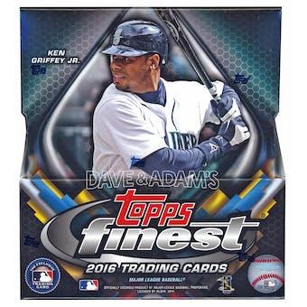 2016 Topps Finest Baseball Hobby Box