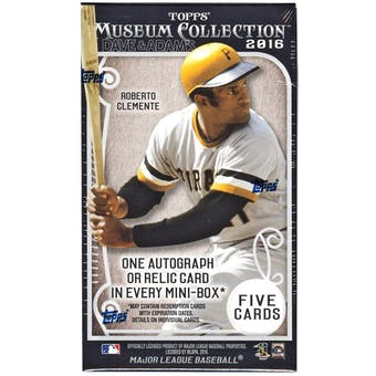 2016 Topps Museum Collection Baseball Hobby Pack