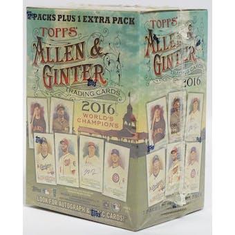 2016 Topps Allen & Ginter Baseball 8-Pack Blaster Box
