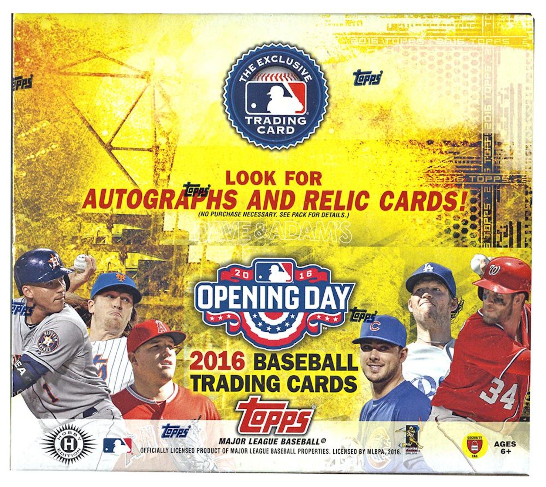 2016 Topps Opening Day Baseball Hobby Box Da Card World