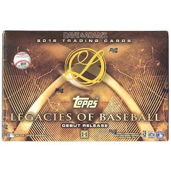 2016 Topps Legacies of Baseball Hobby Box