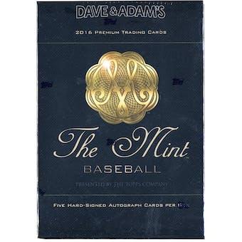 2016 Topps The Mint Baseball Hobby Box