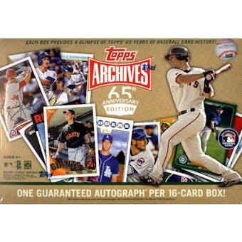 2016 Topps Archives 65th Anniversary Edition Baseball Box