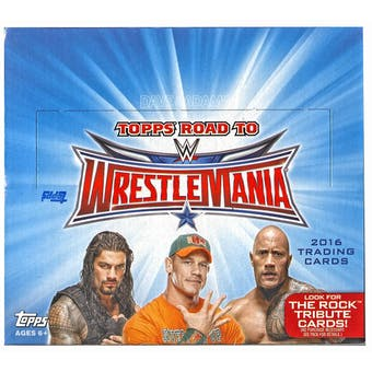 2016 Topps WWE Road to Wrestlemania Wrestling Hobby Box