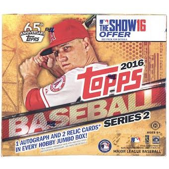 2016 Topps Series 2 Baseball Hobby Jumbo Box