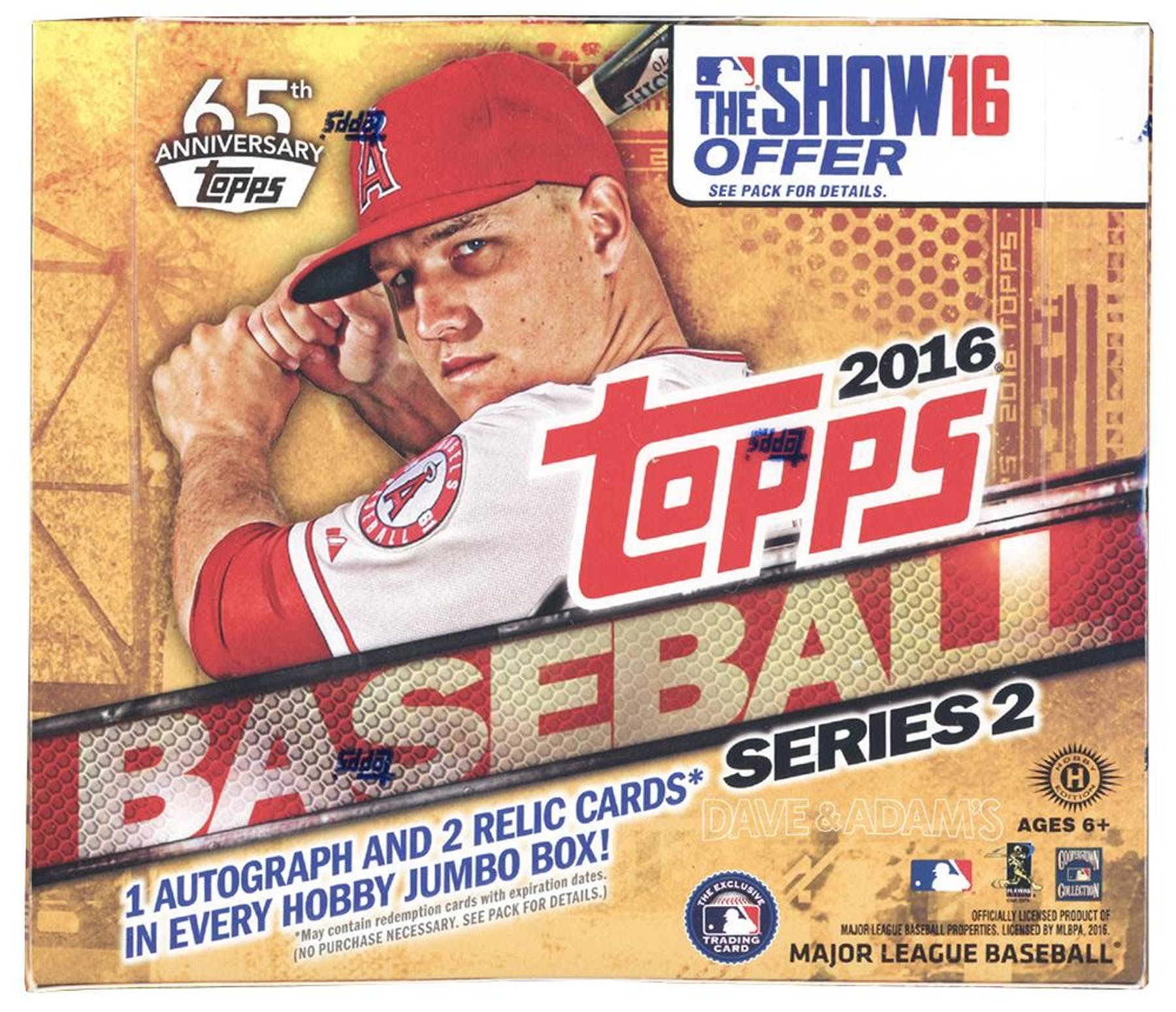 cfe59acc33 2016 Topps Series 2 Baseball Hobby Jumbo Box | DA Card World