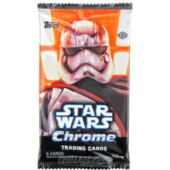 Star Wars: The Force Awakens Chrome Hobby Pack (Topps 2016)