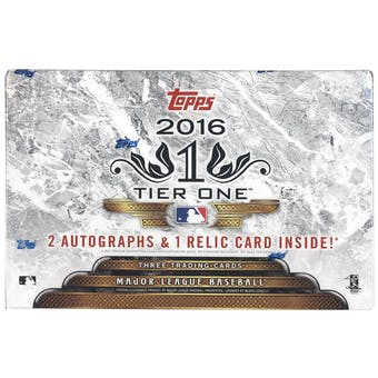 2016 Topps Tier One Baseball Hobby Box