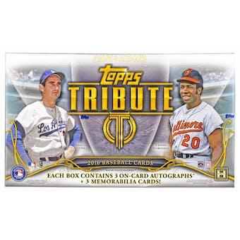 2016 Topps Tribute Baseball Hobby Box