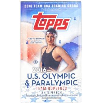 2016 Topps U.S. Olympic Team Hobby Box