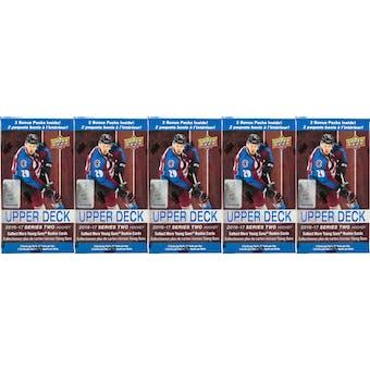 2016/17 Upper Deck Series 2 Hockey 12-Pack Blaster Box (Lot of 5)
