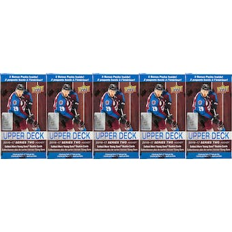 2016/17 Upper Deck Series 2 Hockey 12-Pack Blaster Box (Lot of 5)