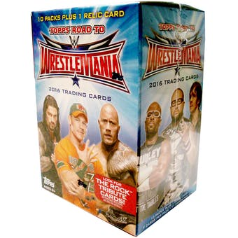 2016 Topps WWE Road to Wrestlemania Wrestling 10-Pack Box