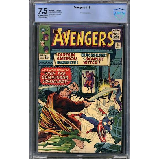 Avengers #18 CBCS 7.5 (OW-W) *17-00CE9D4-007*