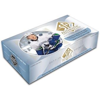 2017/18 Upper Deck SP Authentic Hockey Hobby Box