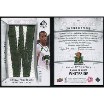 2010/11 Upper Deck SP Authentic #201 Hassan Whiteside AU/Serial 299, Print Run 2691 Autograph /2691