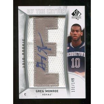 2010/11 Upper Deck SP Authentic #210 Greg Monroe AU/Serial 149, Print Run 894 Autograph /894