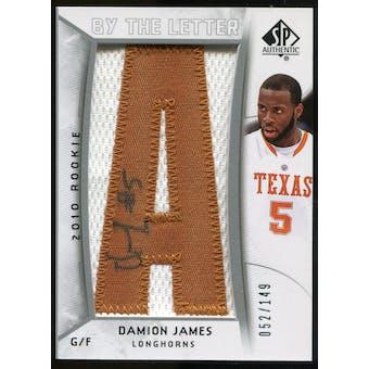 2010/11 Upper Deck SP Authentic #213 Damion James AU/Serial 149, Print Run 745 Autograph /745