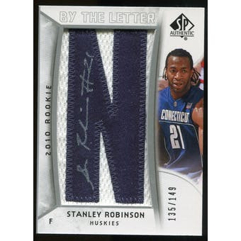 2010/11 Upper Deck SP Authentic #214 Stanley Robinson AU/Serial 149, Print Run 1192 Autograph /1192