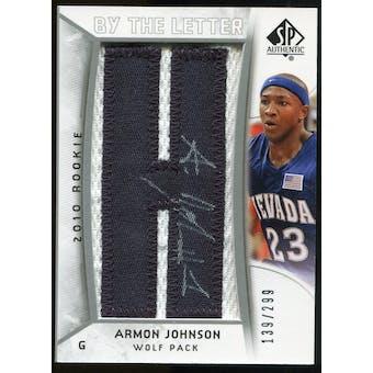 2010/11 Upper Deck SP Authentic #215 Armon Johnson AU/Serial 299, Print Run 2093 Autograph /2093
