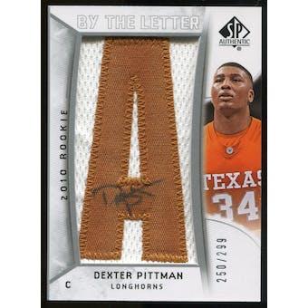 2010/11 Upper Deck SP Authentic #226 Dexter Pittman AU/Serial 299, Print Run 2093 Autograph /2093
