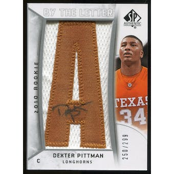 2010/11 Upper Deck SP Authentic #226 Dexter Pittman AU/Serial 299, Print Run 2093 Autograph /2093