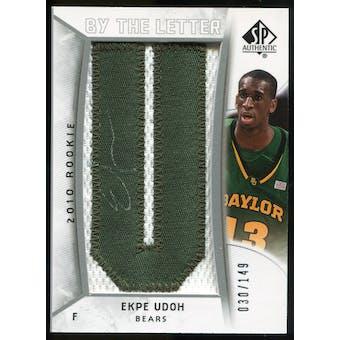 2010/11 Upper Deck SP Authentic #229 Ekpe Udoh AU/Serial 149, Print Run 596 Autograph /596