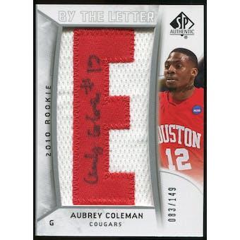 2010/11 Upper Deck SP Authentic #239 Aubrey Coleman AU/Serial 149, Print Run 1043 Autograph /1043