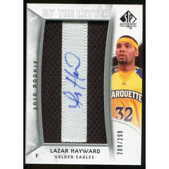 2010/11 Upper Deck SP Authentic #240 Lazar Hayward AU/Serial 299, Print Run 1794 Autograph /1794