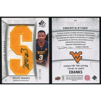 2010/11 Upper Deck SP Authentic #242 Devin Ebanks AU/Serial 299, Print Run 1794 Autograph /1794